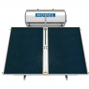 NOBEL classic 160lt  3m² Glass boiler Ηλιακός II ενεργείας με 2 επιλεκτικούς συλλέκτες 1,5m²